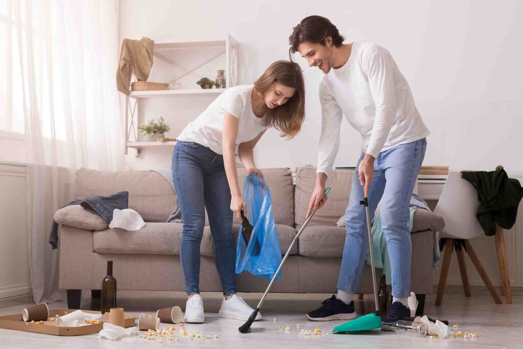 5 Easy After Party Cleanup Tips