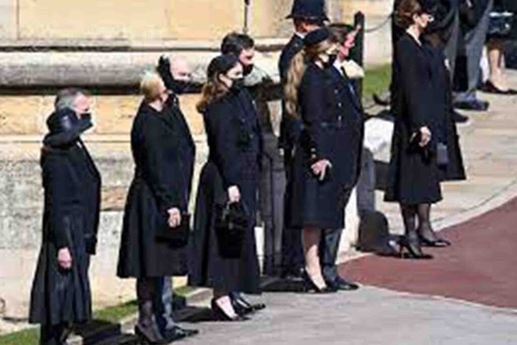 Princesses Beatrice and Eugenie Attend Prince Philip's Funeral Alongside Their Husbands